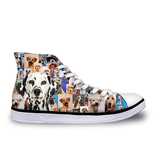 Abbracci Idea Cani Stampa High Top Scarpe Di Tela Sneakers Da Ginnastica Per Cane Da Donna 10