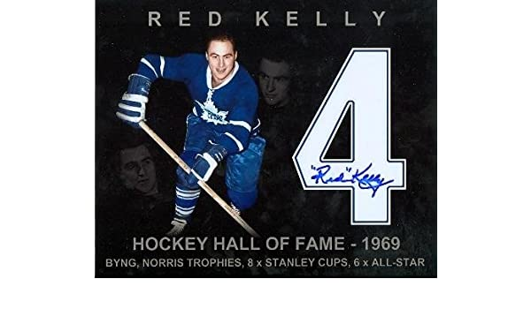 Red Kelly autographed 8x10 Photo (Toronto Maple Leafs Special Jersey  Edition Picture) - Autographed NHL Photos at Amazon s Sports Collectibles  Store 5e2f2bd60