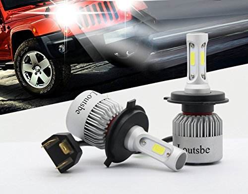 H4 LED Headlight Bulb, Loutsbeam 72W 6500K 8000Lumens Extremely Bright AEC...
