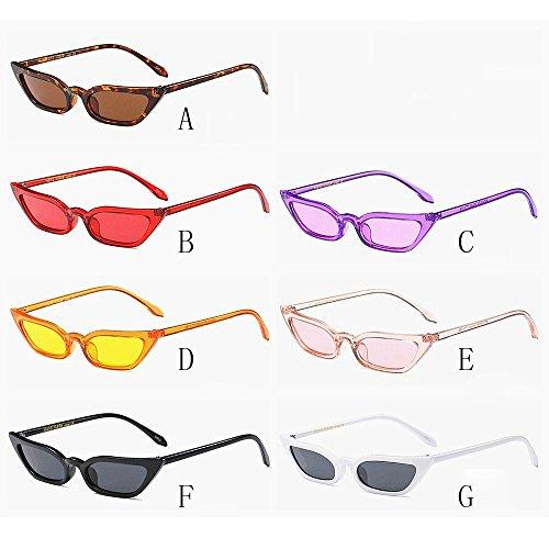 soleil Vintage de Oeil pour Des Marron chat UV400 Mode Petit Dames de cadre Soleil de Sunenjoy lunettes Rétro Femme Lunettes Lunettes OqwSO