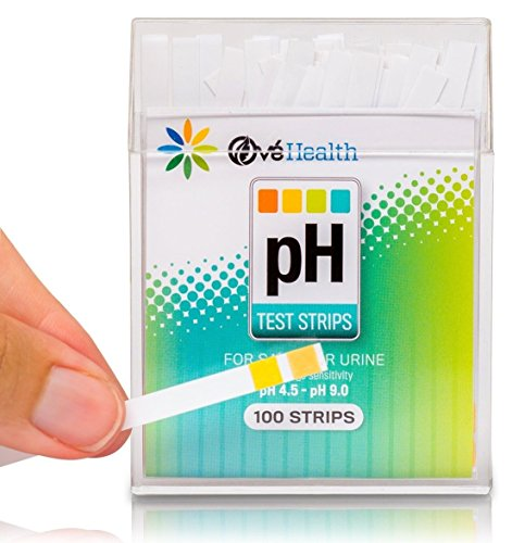 100 Ct Optimum Popular pH Healthy Test Strips Instant Results Care Quickly Monitor Urine or Saliva with Color Chart