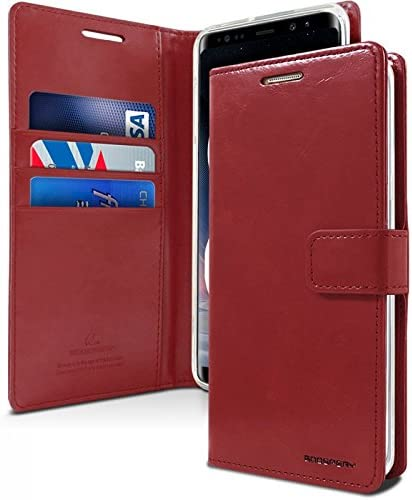 Protecci/ón Funda de piel Samsung Galaxy Note 8 Funda de billetera para Samsung Galaxy Note 8 Funda de KILRELF/® Moon Diary Vino Ranuras para tarjetas extra en efectivo
