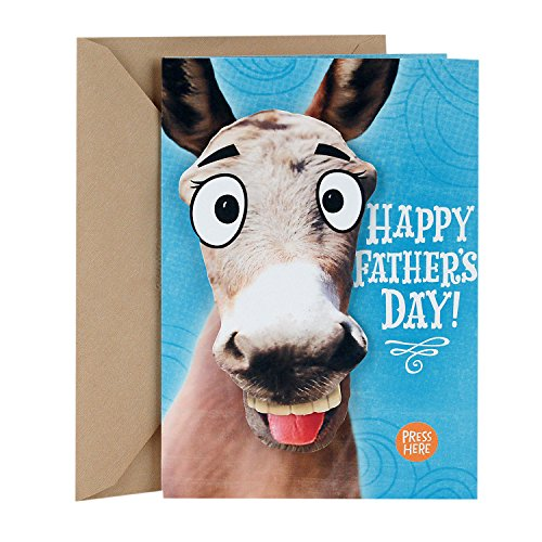 Hallmark Father's Day Funny Greeting Card with Sound (Donkey Smart-Ass)