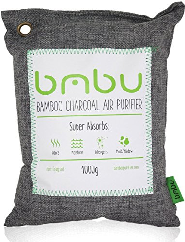 - 1000g Large Bamboo Charcoal Air Purifier Bag - Deodorizer and Air Freshener - Remove Odor and Control Moisture in Your RV, Camper, SUV, Car, Semi truck, Closet, Mobile Home, Storage - Non fragrant