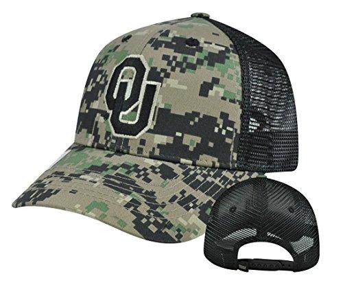 Oklahoma Sooners Hat (NCAA Oklahoma Sooners Digital Camo Camouflage Curved Bill Mesh Snapback Hat)