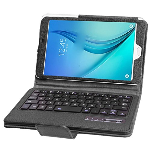GBSELL Detachable Bluetooth Keyboard Case Cover For Samsung Galaxy Tab E 8.0inch T377 (Black)