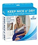 Blue Jay Keep Nice n' Dry Cast and Bandage Protector, Adult Long Leg, Watertight Seal, Latex-Free and Reusable, Easy Application Single Hand Operation, 1-Year Warranty, Cast Protector for Shower