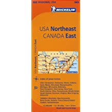 Michelin USA: Northeast, Canada: East / Etats-Unis: Nord-Est, Canada: Est Map 583