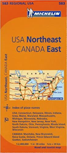 Michelin USA: Northeast, Canada: East Map 583 (Maps/Regional ...