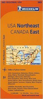 Michelin USA Northeast Canada East Map 583 MapsRegional