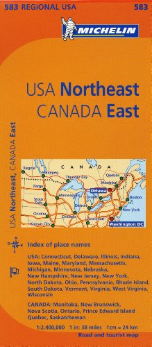 Michelin USA: Northeast, Canada: East Map 583 (Maps/Regional (Michelin)) (Us Eastern Map)
