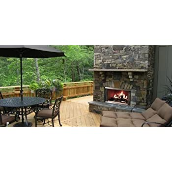 "42"" Outdoor Montana SS Wood-Burning Fireplace w/Traditional Refractory"