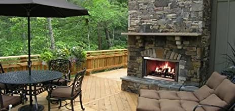 Amazon 42 outdoor montana ss wood burning fireplace w 42quot outdoor montana ss wood burning fireplace wtraditional refractory teraionfo