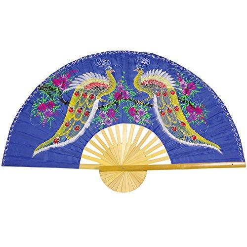 """UPC 849527015056, Oriental Furniture Proud Peacocks Fan - 40"""""""