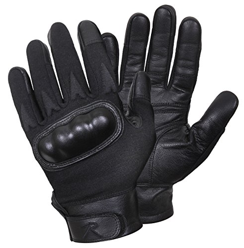Rothco Hard Knuckle Cut and Fire Resistant Gloves, M, Black