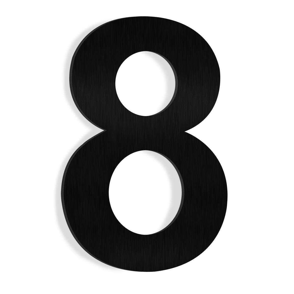 Barton 6' House Letter Number Black Solid Stainless Steel Satin Finishing Floating House Home Number (Number 1)
