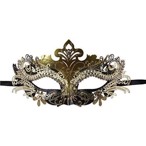 Vanki 1 Pcs Masquerade Mask Laser Cut Metal