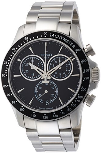 Tissot V8 T106.417.11.051.00 Black/Silver Stainless Steel Analog Quartz Men's Watch (Bridge Watch Automatic)
