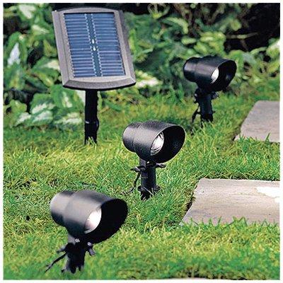 JIAWEI TECHNOLOGY SPS1-P2-BK-PK3 Four Seasons Courtyard High Output Natural White Solar Flood Light, ()