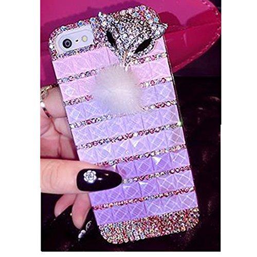 EVTECH (TM) pour iphone 4 4S 3D bling strass Diamant Diamond Diamonte Bling Design Coque arrière Coque Case dur étui/housse/cover Coque