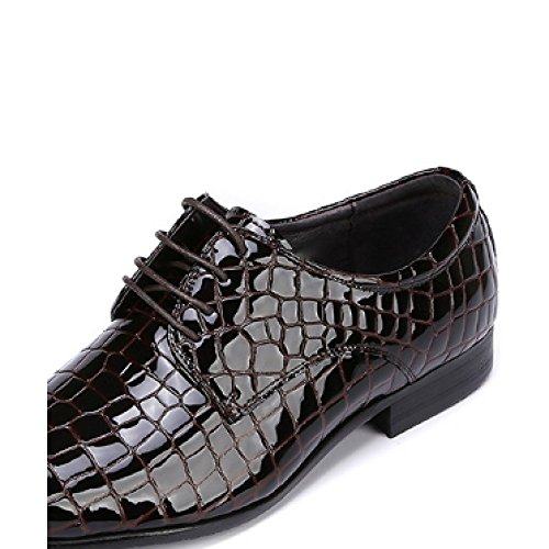 da Lucido Sposa Scarpe Affari Black Stringate Moda Oxford A Pelle Scarpe Punta Scarpe Scarpe Uomo Scarpe Scarpe alla Ufficio Singole Scarpe da Verniciata in Pelle xAOSPqwC