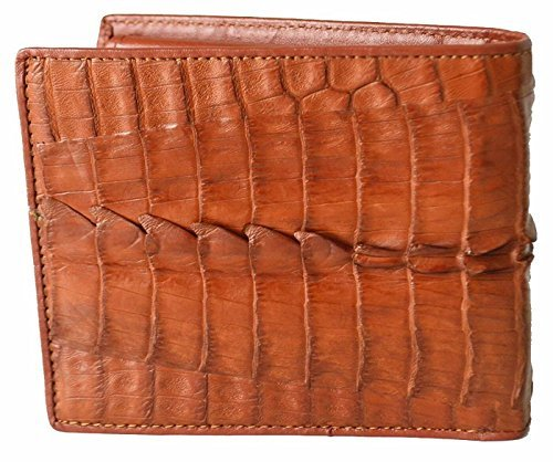 Authentic Crocodile Skin Men's Bifold Crocodile Tail Skin Leather Tan - Stores Outlet Hershey