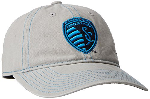 adidas MLS Sporting Kansas City Adult Women MLS SP17 Neon Logo Adjustable Slouch (Womens Adjustable Slouch Cap)