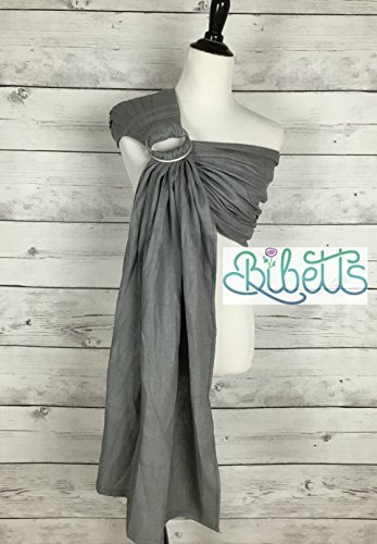 Bibetts Pure Linen Ring Sling 'Gray' Baby Carrier - CPSIA compliant - Infant, Toddler and Baby Carrier