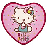 Hello Kitty Folk Heart Shaped Rug