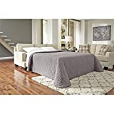 Benchcraft Ashley Furniture Signature Design - Brielyn Sleeper Sofa - Contemporary Style Couch - Queen Size - Linen