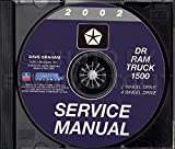 2002 DODGE TRUCK & PICKUP REPAIR SHOP & SERVICE MANUAL For Ram 1500 Truck models, including half ton, Sport, SLT, ST, two-wheel drive, four-wheel drive, short bed, long bed, and Quad Cab