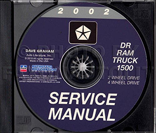 - 2002 DODGE TRUCK & PICKUP REPAIR SHOP & SERVICE MANUAL For Ram 1500 Truck models, including half ton, Sport, SLT, ST, two-wheel drive, four-wheel drive, short bed, long bed, and Quad Cab