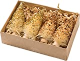 Primitives By Kathy 3 Inches Tall Bristle Glitter Wood Boxed Sisal Set Of 4 Christmas Trees
