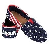 NFL New England Patriots Women's Canvas Stripe Shoes, X-Large(10), Blue