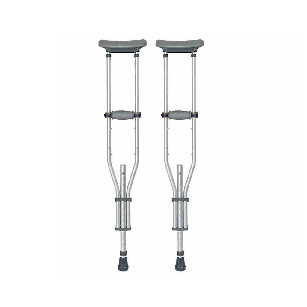 NUBAO 身体障害のある人のための障害者用の松葉杖は、95-155cm(37.4-61.02インチ)の調節可能な範囲で柔軟に折り畳むことができます。 (色 : ダブル) B07D2FDX7D ダブル