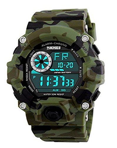 Amazon.com : Relojes de Hombre Chronograph Sport Watch Silicone Gold Luxury Military Watch De Hombre Para Caballero Elegante : Everything Else