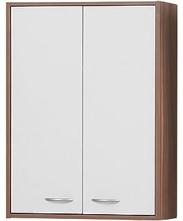 FMD Möbel 920-002 Hängeschrank Holz, weiß, 60 x 21 x 87 cm: Amazon ... | {Hängeschrank holz 91}
