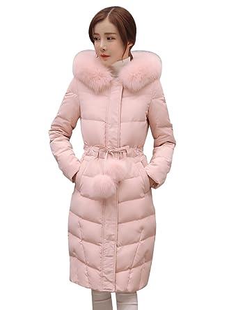 außergewöhnliche Farbpalette begrenzter Verkauf harmonische Farben YouPue Langen Daunenjacke Steppjacke Damen mit Kapuzen Warm Daunenmantel  Parka Winter