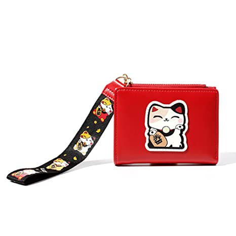 Homeofying Lucky Cat Bifold Monedero Tarjeta Titular De ...