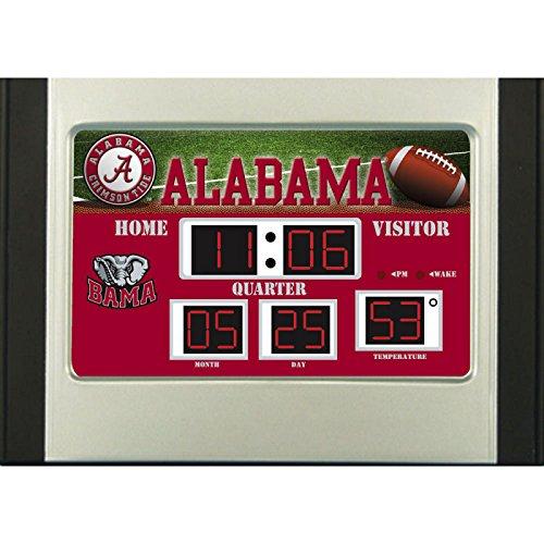 Fans With Pride University of Alabama Scoreboard Desk Clock, Multi, 5 in. x 11 in. x 2.5 in. -