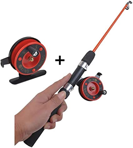 Amazon Com Wingbind Ice Fishing Spinning Rod And Fly Fishing Reel Combos Mini Ultra Light Ice Fishing Rod Pole And Reel Combos Full Kit Sports Outdoors