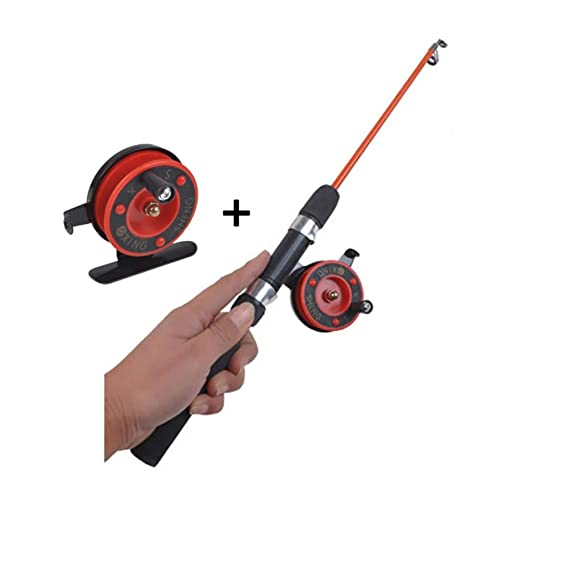 Wingbind Ice Fishing Spinning Rod and Fishing Reel Combos Mini Ultra Light Ice Fishing Rod Pole and Reel Combos Full Kit