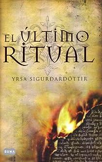Ultimo ritual, el par Yrsa Sigurdardóttir