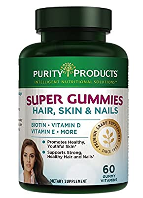 SUPER GUMMIES - Hair, Skin & Nails Elite Blend - Delicious and Nutritious - 60 count gummy vitamins from Purity Products