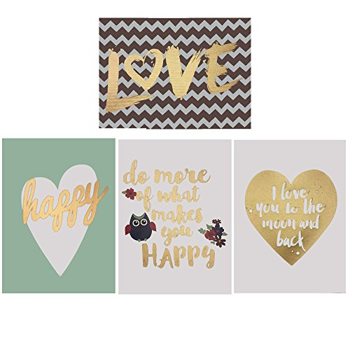 Canvas Holiday Family love Happy Cute quotes Set of 4 soft colors to match any room By Decor Hut