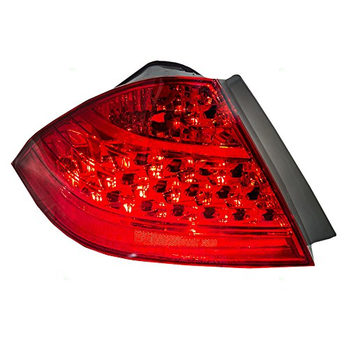 il Lamp with Red Quarter Panel Mounted Lens Replacement for Honda 33551SDAA32 (Tail Lamp Quarter)