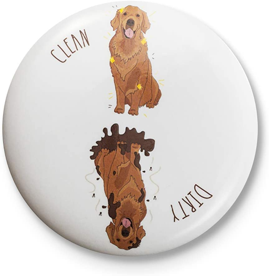 Sutter Signs Clean Dirty Dog Dishwasher Magnet (Golden Retriever)