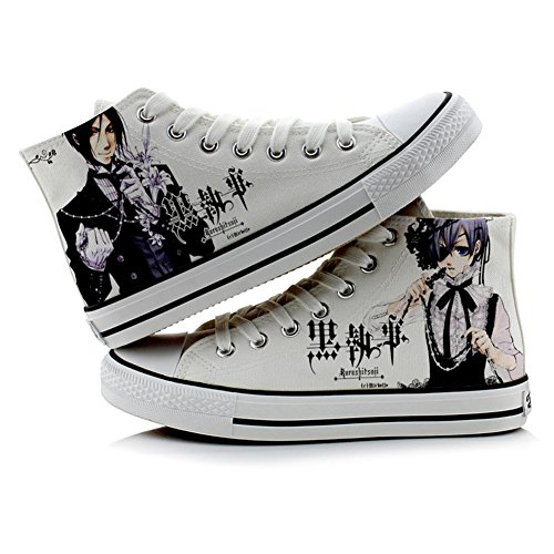 Black Butler Kuroshitsuji Ciel and Sebastian Cosplay Shoes Canvas Shoes Sneakers Colourful 4 Choices Picture 4 EVgtX0