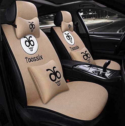 Cuscino seggiolino auto in lino Cuscino quattro stagioni universale senza cravatta nuovo copriletto in autunno e in inverno (Colore   Beige)