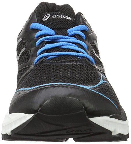 Asics Gel-Pulse 8, Zapatillas de Running para Hombre, UK Negro (Black/Silver/Blue Jewel)